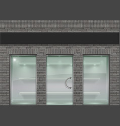 Brick facade in loft style vector