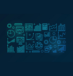 business analysis blue vector image