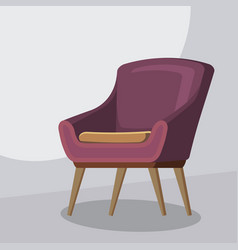 chair cartoon isolated vector image