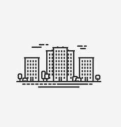 City icon cityscape construction building vector