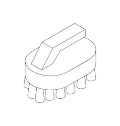 Cleaning brush icon isometric 3d style vector image