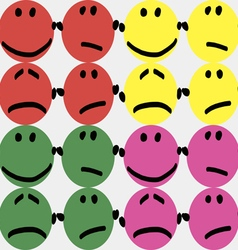 Colorful smileys vector image