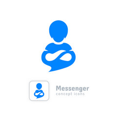 communication logo messenger icon modern chat app vector image