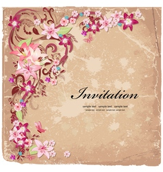 design flower vector image