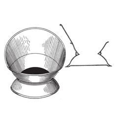 Design for a cuspidor is a receptacle made vector