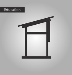 desk black and white style icon vector image