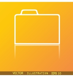 Document folder icon symbol Flat modern web design vector image