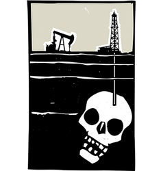 Drilling for Death vector image