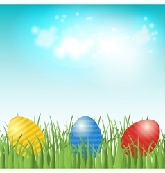 Easter background with copyspace in sky vector