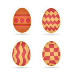 easter eggs set different schemes of coloring vector image