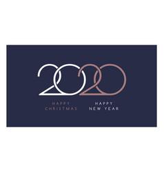 elegant 2020 happy new year and happy christmas vector image