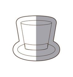 Elegant hat of suit icon vector