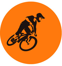 Extreme bicycle mtb dirt racer vector