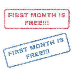 first month is free exclamation exclamation vector image