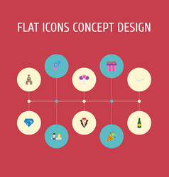 Flat icons couple posy sexuality symbol and vector