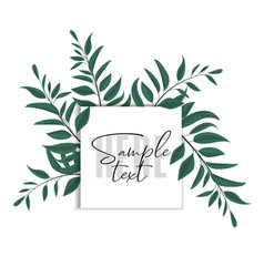 floral greenery card design vector image