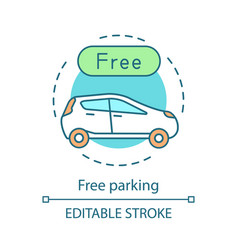 free parking concept icon vector image