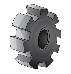 Gear piece vector