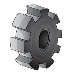 Gear piece vector image