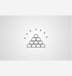 gold bars icon sign symbol vector image