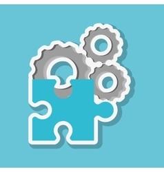 Graphic design of puzzle vector