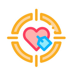 heart target icon outline vector image