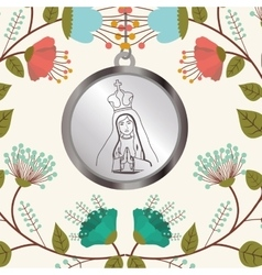 Holy medal design vector