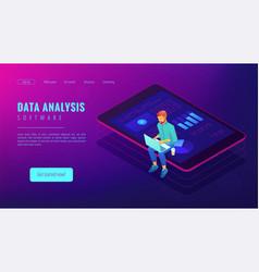 Isometric big data analysis concept vector