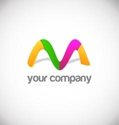 Letter m logo icon design vector