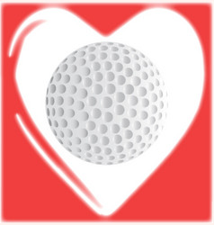 Love golf vector