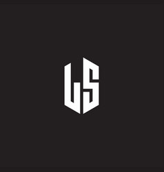 Ls logo monogram with hexagon shape style design vector