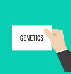 Man showing paper genetics text vector