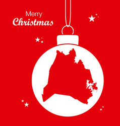 merry christmas theme with map of nashville vector image