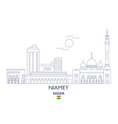 Niamey city skyline vector