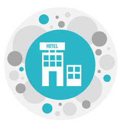 Of hotel symbol on townhouse vector