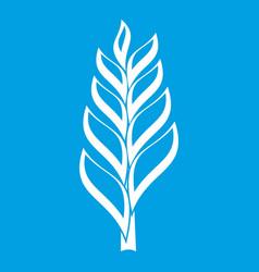 One spica icon white vector