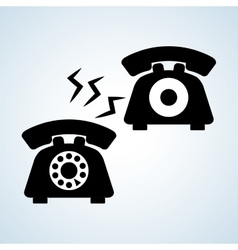 Phone design technology and antique concept vector image