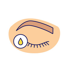 Primer for eyelash extension color icon vector
