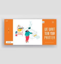 Printing house or advertising agency website vector