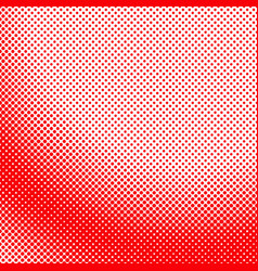 red geometrical halftone dot pattern background vector image