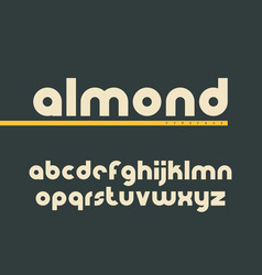 Rounded lowercase font latin alphabet letters vector