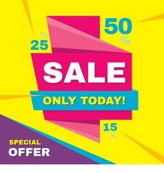 Sale banner special offer 50 off vector image