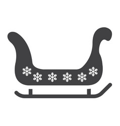 santa sleigh glyph icon new year and christmas vector image