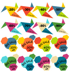 Set of sale discount labels vector