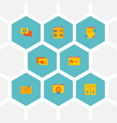 set of website icons flat style symbols with photo vector image