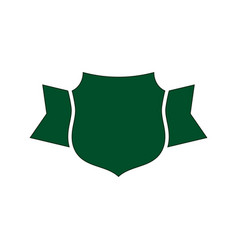 shield green icon outline shape shield simple vector image
