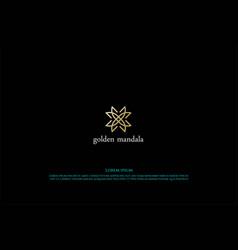 simple minimalist elegant luxury mandala flower vector image