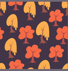 simple trees seamless pattern vector image