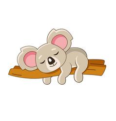 sleeping koala on a tree vector image
