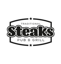 steaks vintage stamp black logo vector image